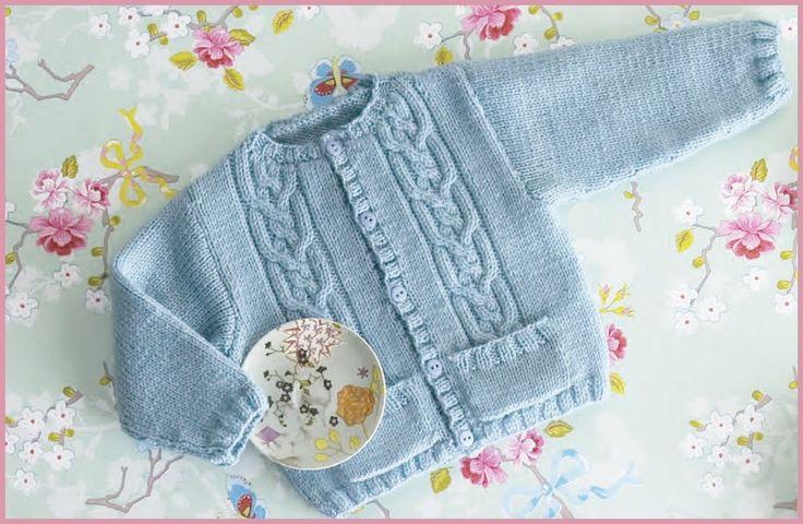 Patrón chaqueta de bebé de lanas Katia. Merino classic