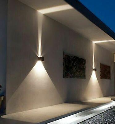 Mce Cube Wurfel Led Wand Leuchte Lampe Up Down Fur Aussen Innen Wasserdicht Ip65 Ebay In 2020 Led Wand Aussenwandbeleuchtung Lampe