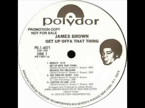 James Brown - Get Up Offa That Thing 1978 https://www.youtube.com/watch?v=hfj8zxGos10 Tower Of Power - Diggin' On James Brown https://www.youtube.com/watch?v=EySoF0wxb1Q The Chambers Brothers Funky https://www.youtube.com/watch?v=MHGe-fDN774 George Clinton Lets Get Satisfied