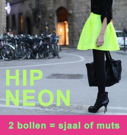 Hip neon voor een sjaal of muts