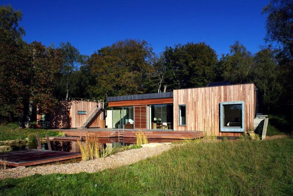Green House Area from Best Retreat House Design by New Forest House in UK 600x401 Best Retreat House Design by New Forest House, in UK