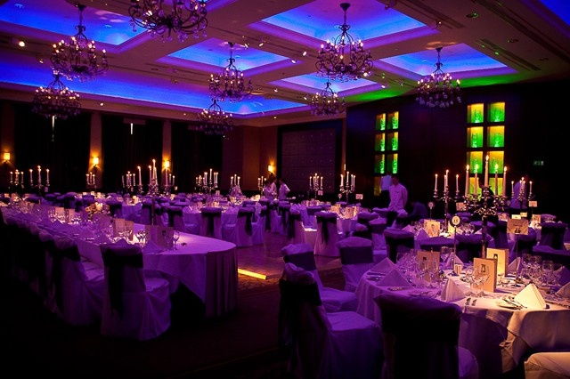 Fota Island Wedding Reception Room. Colour and candles make for great photos.