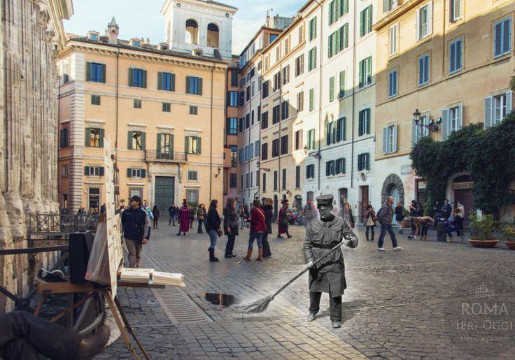 Lo scopino di Piazza di Pietra - #rephotography #rome #rome #romaierioggi