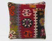 decorative pillow sofa pillow cover kilim pillow kilim rug pillow bohemian style geometric pillow case western pillow cover red pillow 25689