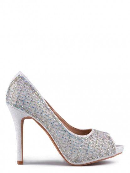 Női Magassarkú cipő TENDENZ - fehér