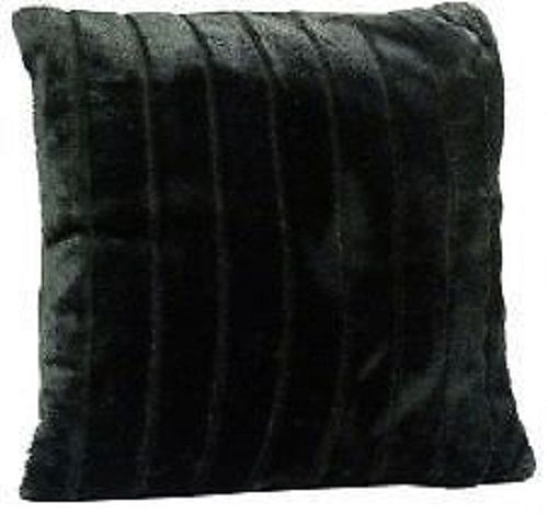 Faux Fur Black Cushion Cover – Linen and Bedding