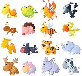 Pegatinas animalitos bebe para imprimir | Imagenes para imprimir.Dibujos para imprimir