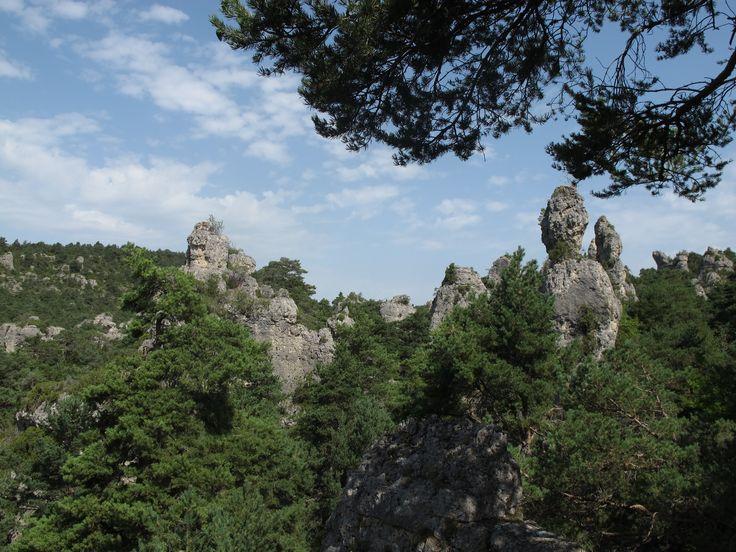 Montpellier-le-Vieux :  de fascinants paysages sculptés par l'eau et le vent.  #causses #cevennes #unesco
