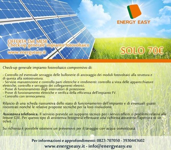 Check-up generale impianto fotovoltaico