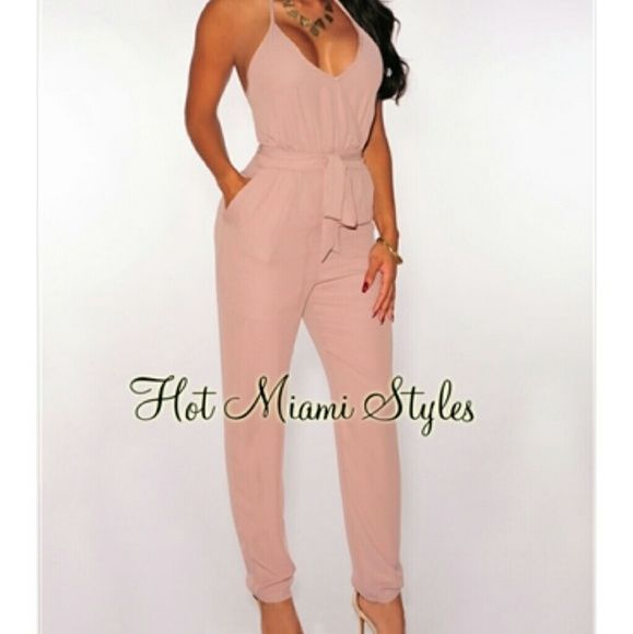 Hot Miami Styles nude jumpsuit size small Never worn. Still has tags, nude jumpsuit from HMS Double Zero Pants Jumpsuits & Rompers