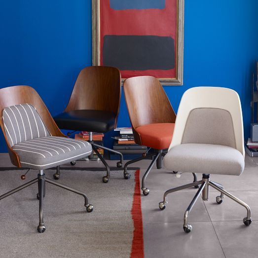 NEW! Bentwood Office Chair + Cushion from west elm