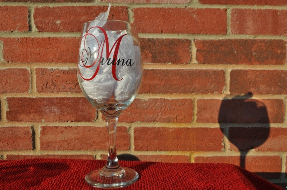 Personalized Wine Glass, Bridesmaid Gift | My stuff ...