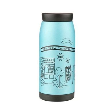 Lovely Portable Vacuum Water Bottle Vacuum Cup Stainless Steel Sport Bottle