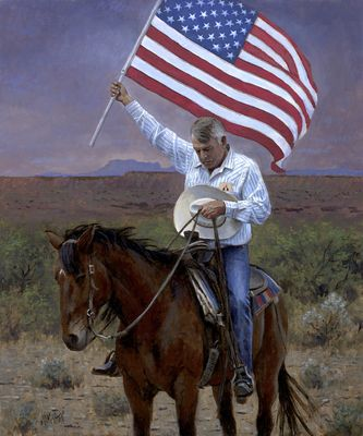 Jon McNaughton.. .*I appreciate this painting and his artistic talent but not his politics.