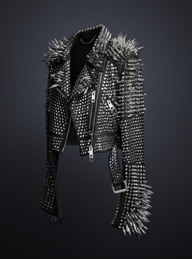 black studded leather jacket - Google Search