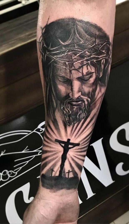Jesus Tatoos : jesus, tatoos, Tattoo, Jesus, Tattoo,, Sleeve, Designs,, Christian