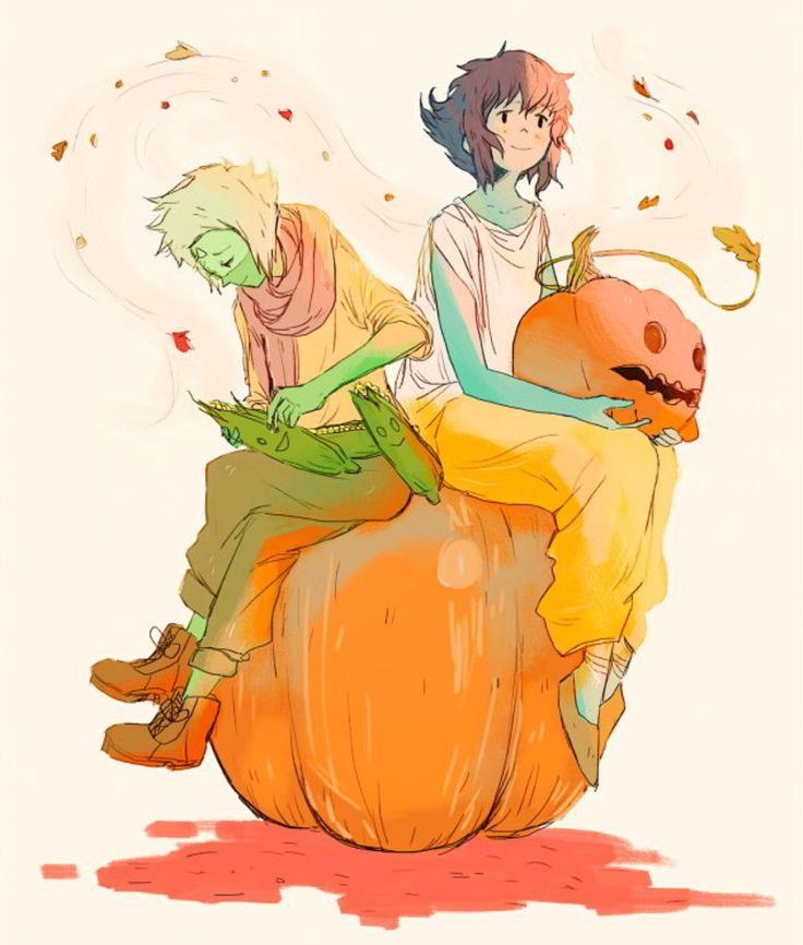lapis and peridot in a big pumpkin