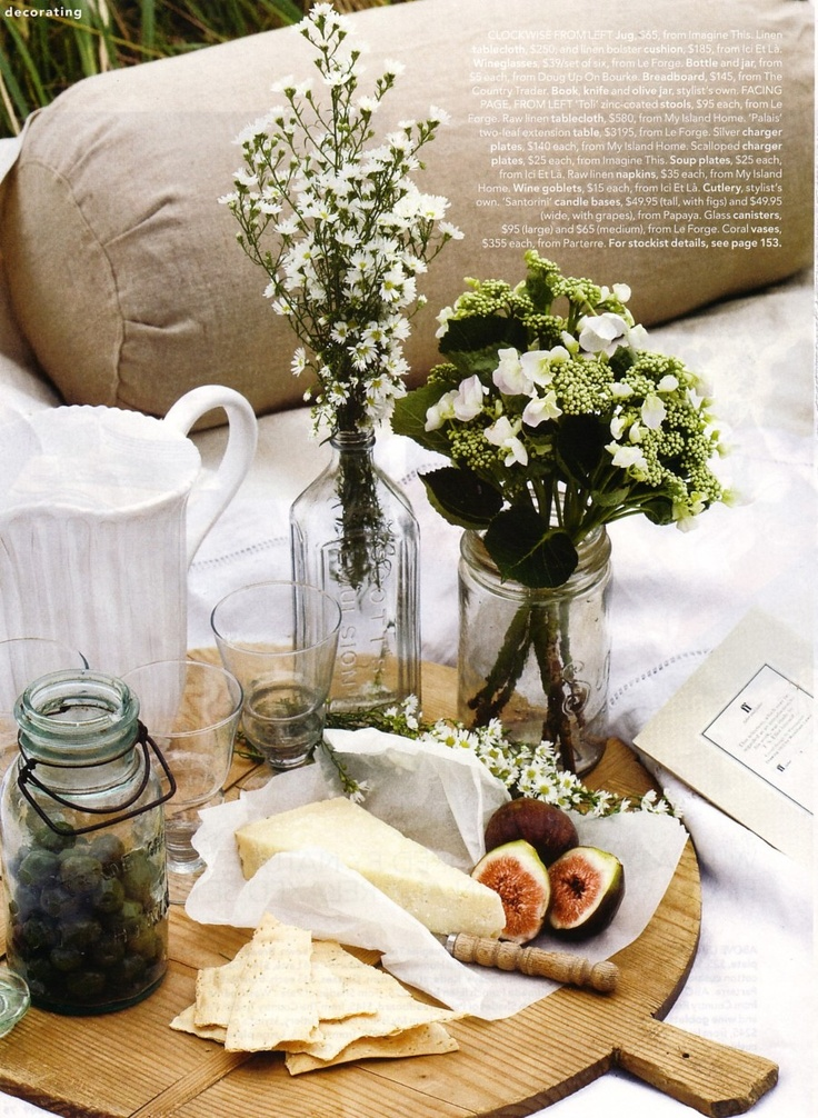 cheese tray with flowers