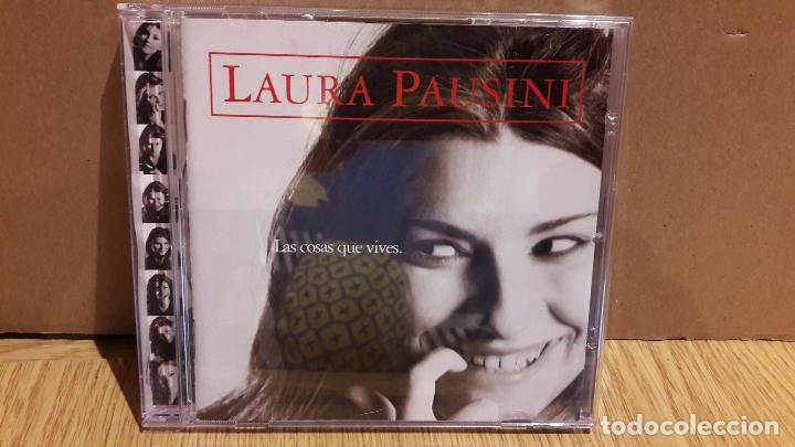 LAURA PAUSINI / LAS COSAS QUE VIVES. CD / EAST WEST-1996. 12 TEMAS / MUY LEVES MARCAS.