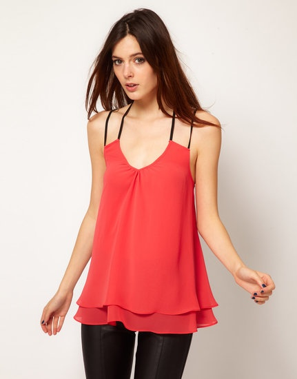 50 Under $50 Ways to Top Off Your Summer Wardrobe: This River Island Swing Cami Top will look great with a pair of leather leggings. Just add a dance floor. #summer #style #shirt