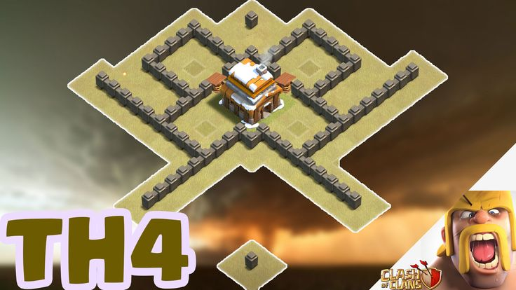 https://www.youtube.com/watch?v=M4v93OZ7PSc&t=64s  Clash of Clans - Town Hall 4 Best War/Trophy Base (TH4) defense strategy 2017 + Replays
