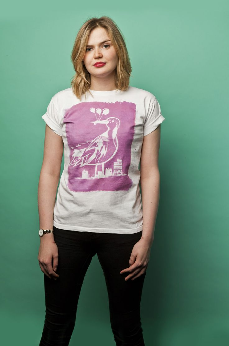 "Bespoke ""City Bird"" T-shirt designed by DeLuca Designs. Available to purchase at www.luciadeluca.com"