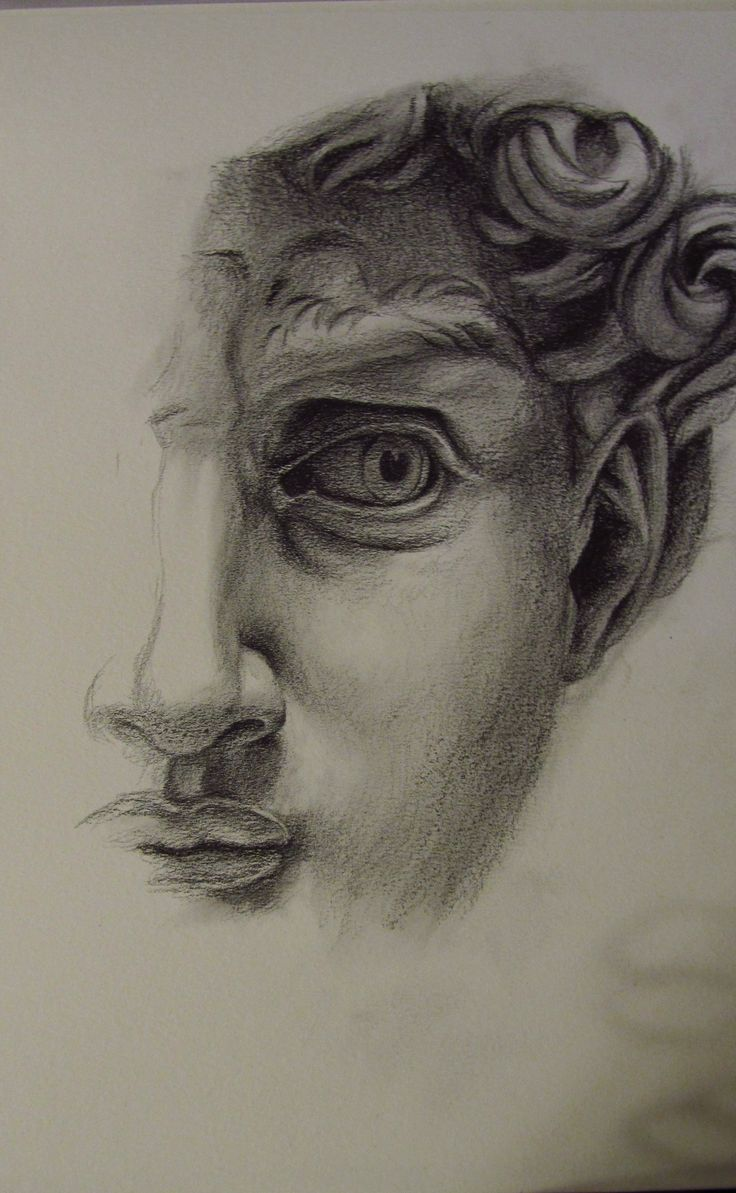 Michelangelo images - Study Based On Michelangelo S David Graphite On Paper