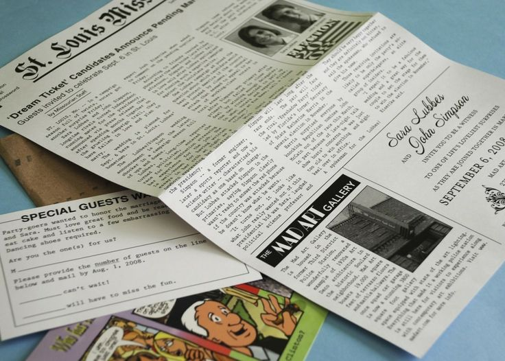 Best Wedding Newspapers Images On   Wedding Newspaper