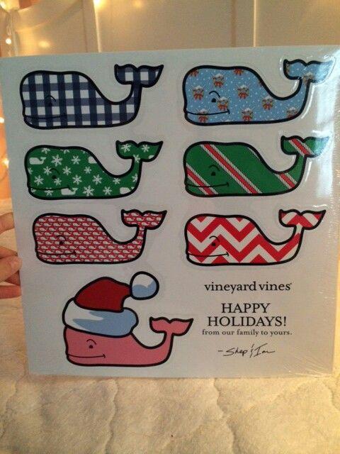 Vineyard Vines holiday stickers