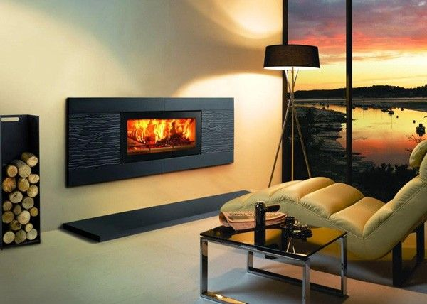 The very latest in fire design  It is hard not to warm to the outstanding  modern appeal of the Stovax Riva  Studio Ceramica Wave inset fire 3215 best Black Electric Fireplace images on Pinterest   Electric  . Electric Fireplace Design. Home Design Ideas