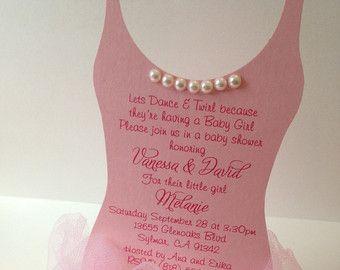 Tutu Baby shower invitation Ballerina baby shower by anaderoux