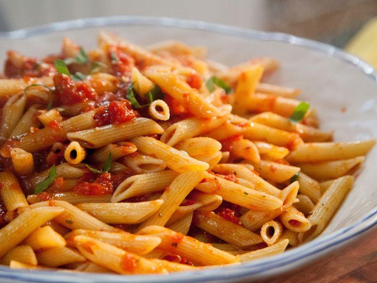 Spicy Arrabiata Penne recipe from Valerie Bertinelli via Food Network