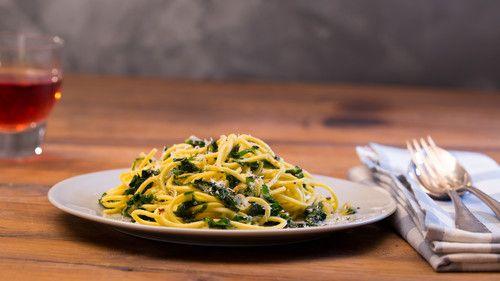 Spaghetti mit Bärlauch