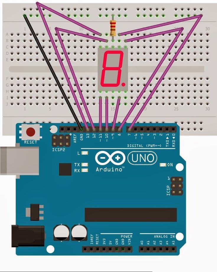 El cajón de Arduino: Display de 7 segmentos (1 dígito)
