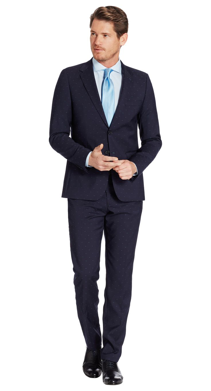 Suit Dark Blue Print Salvador