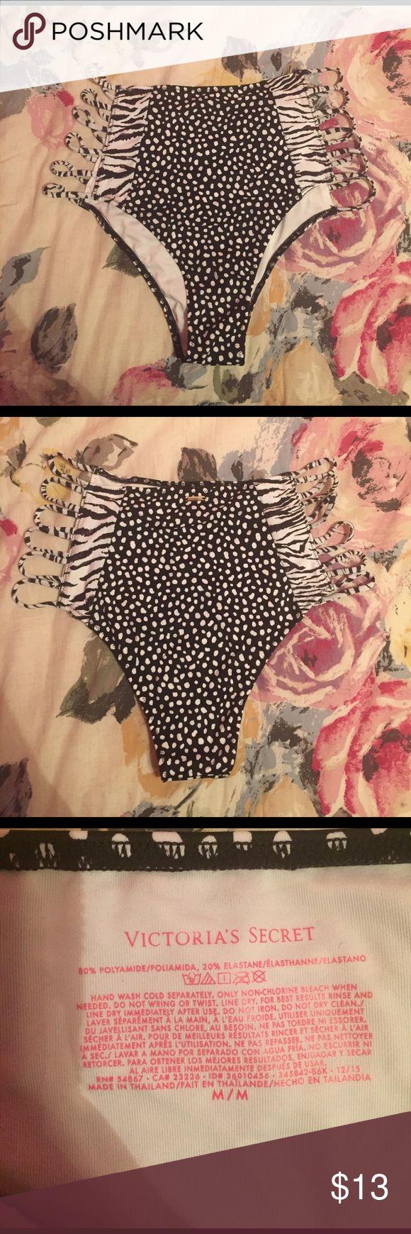 High waisted Polka dot Zebra bikini 👙 Really cute high waisted cheeky bikini that's easy to mix and match. Brand new, never worn, only tried on. Victoria's Secret Swim Bikinis