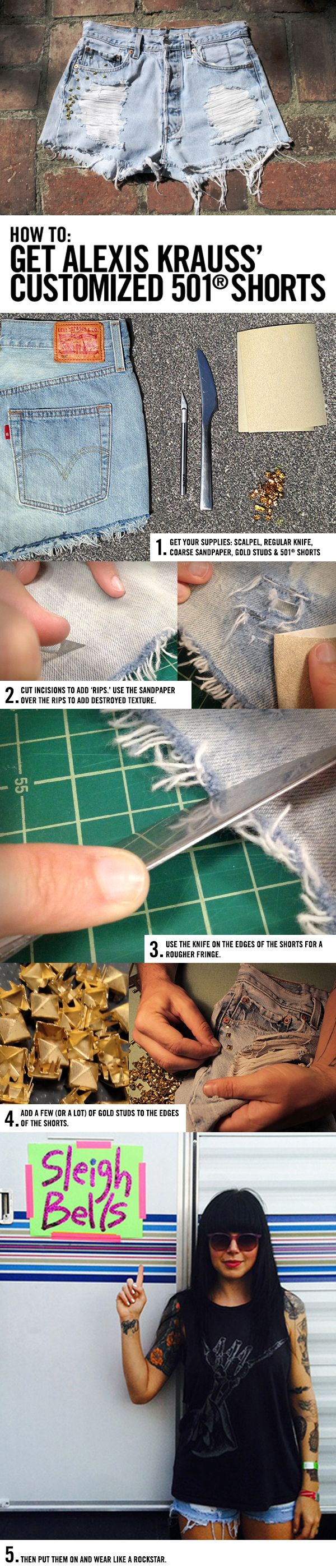 How to get Sleigh Bells' Alexis Krauss' Customized 501 Shorts    http://us.levi.com/family/index.jsp?ab=Women_leftNav_Categories_shorts_501shorts&categoryId=35193626&cp=3146849.3146909.4011526