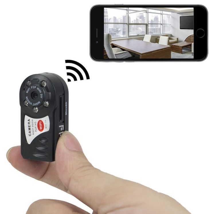 Mini Portable P2P WiFi IP Camera IndoorOutdoor HD DV Hidden Spy Camera Video Recorder