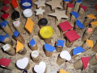 I like the idea of using corks for the base of the stamps.