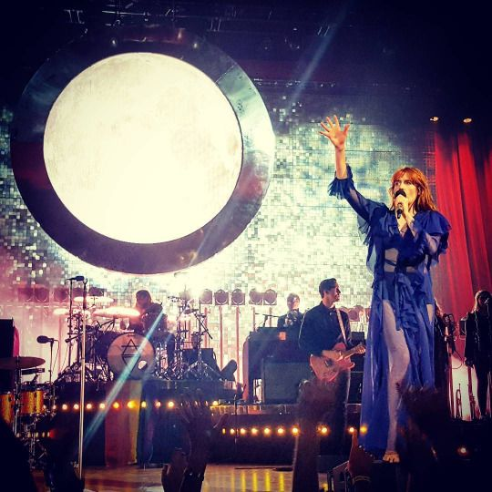 Florence + the Machine performing at the Barclays Center in Brooklyn, New York #HowBeautifulTour