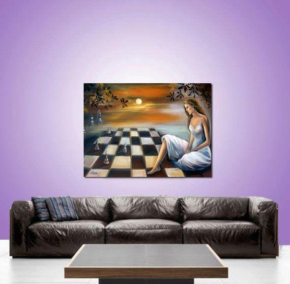 Original Paintings.  Surreal figures oil by artstudioAreti on Etsy