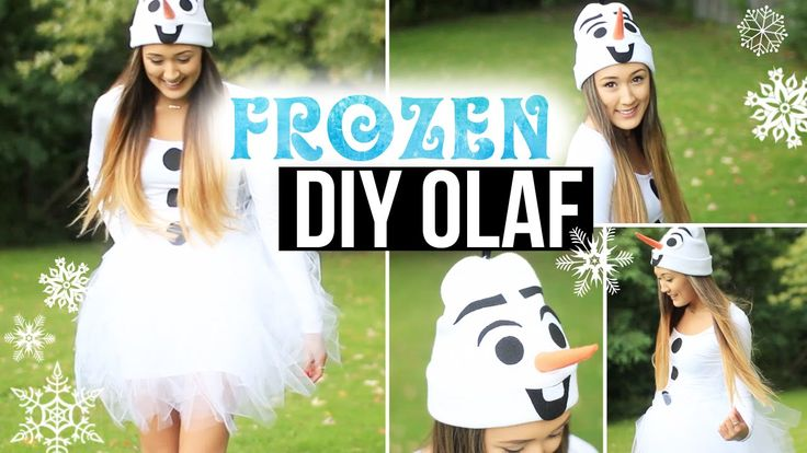 Definitely the cutest and easiest Olaf costume that could be worn at any age. LOVE. DIY Olaf Costume: Easy, Cute & Affordable | LaurDIY