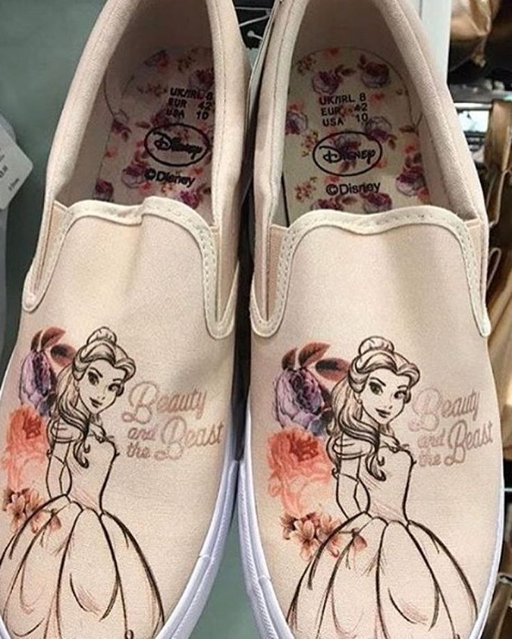 Primark Ladies DISNEY BELLE BEAUTY AND THE BEAST Slip on Trainers Sneakers Shoes