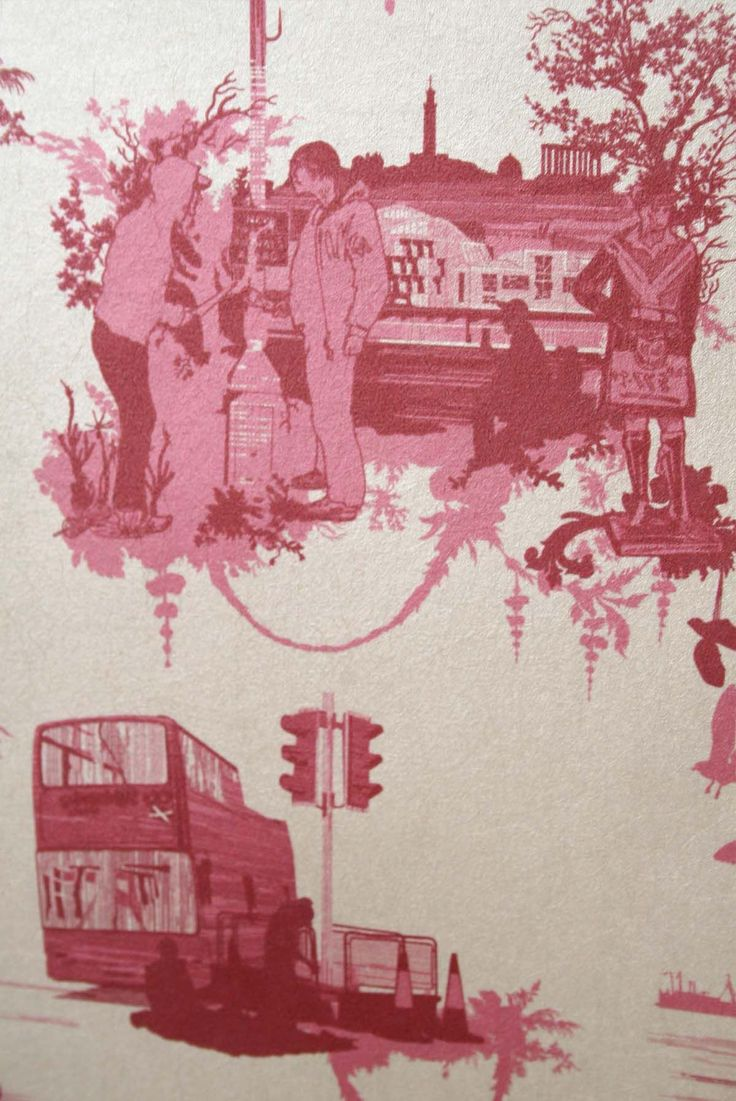 Timorous Beasties Wallcoverings - Edinburgh Toile  available at walnut wallpaper #wallpaper