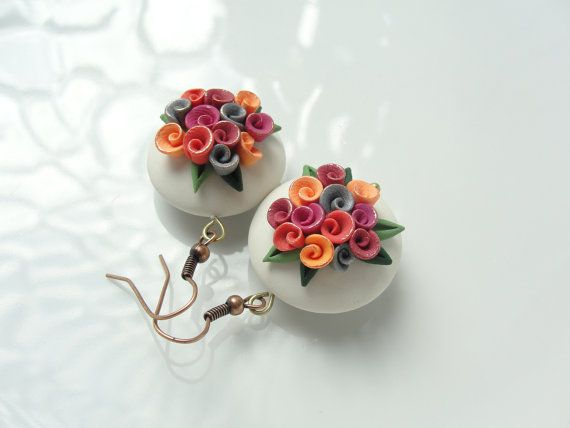 Rosa nozze Giudizi degli orecchini in stile vintage di fizzyclaret