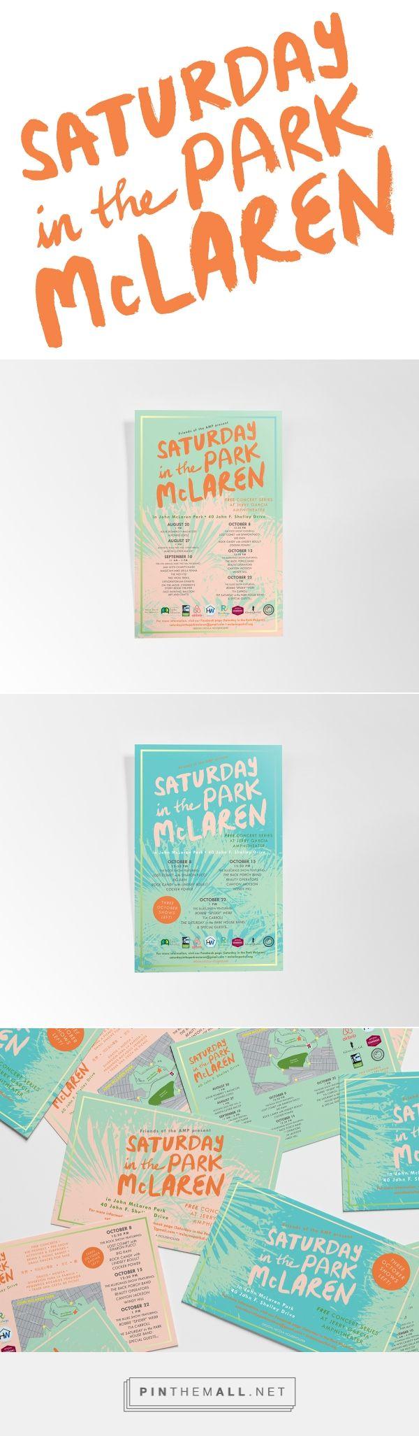 Saturday in the Park McLaren Music Festival Branding by Nicola Householder | Fivestar Branding Agency – Design and Branding Agency & Inspiration Gallery