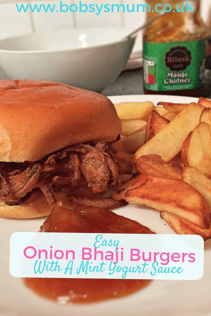 Onion-Bhaji Burgers. Fantastic alternative veggie burger recipe. #recipe #vegetarian #meatfree