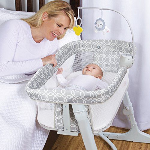 Arm/'s Reach Versatile Adjustable Infant Baby Co-Sleeper Bedside Bassinet Misty