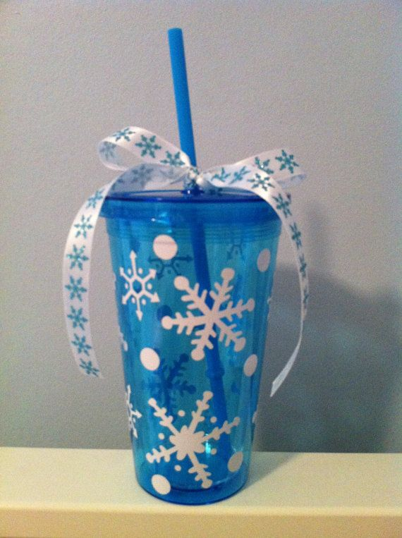 Personalized Christmas Tumbler Cup Glass by MakinItSassy on Etsy, $6.00
