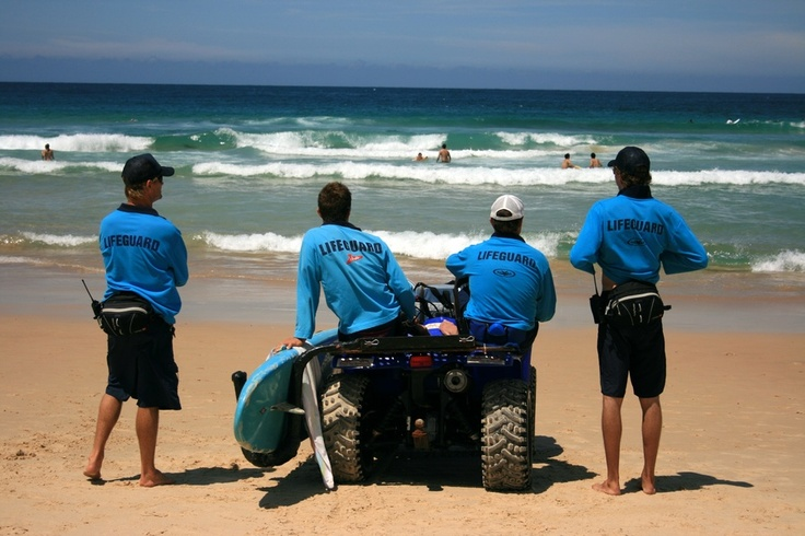 Infamous Bondi Rescue life guards on Sydney's famous Bondi Beach. Dear Bondi, thank you for my first Aussie sunburn!